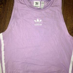 Adidas cropped workout top size M